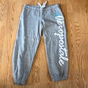 Gray Aeropostale capris sweatpants